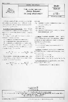Silniki o zapłonie samoczynnym - Zarysy krzywek do pomp wtryskowych BN-81/1301-07