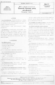 Silniki z zapłonem samoczynnym - Elementy tłoczące pomp - Wymagania i badania BN-77/1301-11