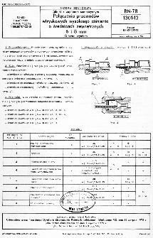 Silniki o zapłopnie samoczynnym - Połączenia przewodów wtryskowych wysokiego ciśnienia o średnicach zewnętrznych 6 i 8 mm - Główne wymiary BN-78/1301-12