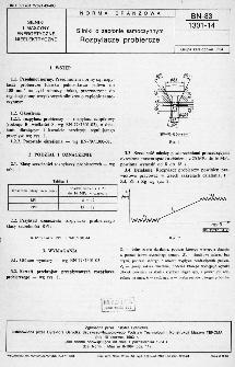 Silniki o zapłonie samoczynnym - Rozpylacze probiercze BN-83/1301-14