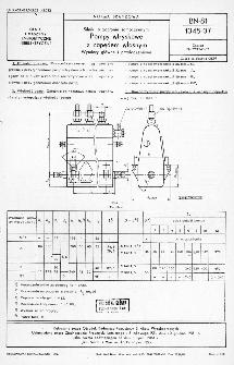 Silniki o zapłonie samoczynnym - Pompy wtryskowe z napędem własnym - Wymiary głowne i przyłączeniowe BN-81/1345-07