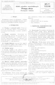 Silniki pojazdów samochodowych - Pompy oleju - Wymagania i badania BN-77/1353-08