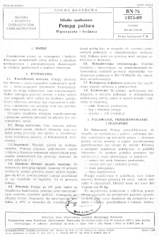 Silniki spalinowe - Pompy paliwa - Wymagania i badania BN-76/1353-09