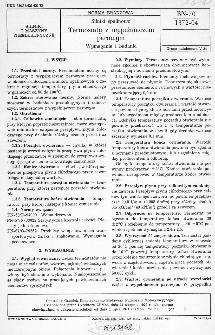 Silniki spalinowe - Termostaty z wypełniaczem parowym - Wymagania i badania BN-70/1372-04
