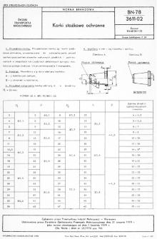 Korki stożkowe ochronne BN-78/3611-02