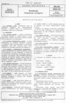 Autobusy - Podstawowe wymagania BN-89/3623-03