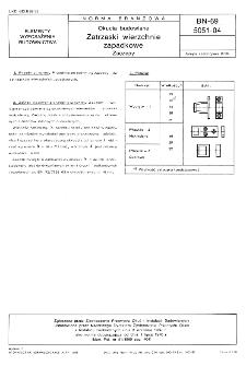 Okucia budowlane - Zatrzaski wierzchnie zapadkowe - Zaczepy BN-69/5051-04