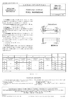 Konstrukcje metalowe - Kliny montażowe BN-72/2981-01
