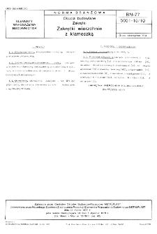 Okucia budowlane - Zakrętki - Zakrętki wierzchnie z klameczką BN-77/5051-15/10