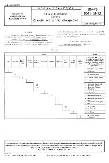 Okucia budowlane - Zakrętki - Zakrętki wierzchnie dźwigniowe BN-78/5051-15/12