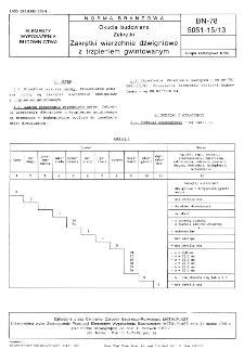 Okucia budowlane - Zakrętki - Zakrętki wierzchnie dźwigniowe z trzpieniem gwintowanym BN-78/5051-15/13