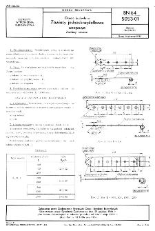 Okucia budowlane - Zawiasy jednoskrzydełkowe czopowe - Zawiasy pasowe BN-64/5053-01
