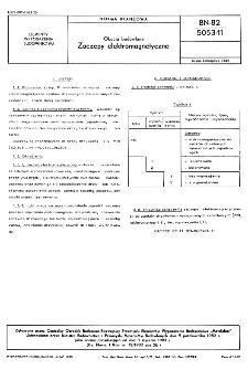 Okucia budowlane - Zaczepy elektromagnetyczne BN-82/5053-11
