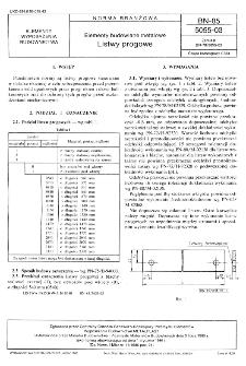 Elementy budowlane metalowe - Listwy progowe BN-85/5055-03