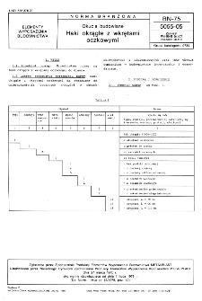 Okucia budowlane - Haki okrągłe z wkrętami oczkowymi BN-75/5055-05