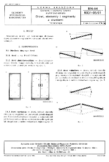 Elementy i segmenty ścienne aluminiowo-szklane - Drzwi, elementy i segmenty z drzwiami - Terminologia BN-84/9031-05/01