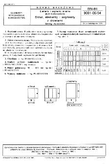 Elementy i segmenty ścienne aluminiowo-szklane - Drzwi, elementy i segmenty z drzwiami - Szeregi wymiarowe BN-84/9031-05/04