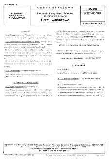 Elementy i segmenty ścienne aluminiowo-szklane - Drzwi wahadłowe BN-89/9031-05/08