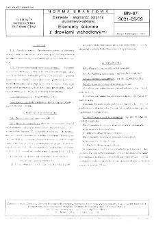 Elementy i segmenty ścienne aluminiowo-szklane - Elementy ścienne z drzwiami wahadłowymi BN-87/9031-05/09