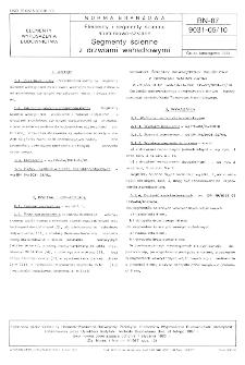 Elementy i segmenty ścienne aluminiowo-szklane - Segmenty ścienne z drzwiami wahadłowymi BN-87/9031-05/10