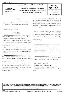 Elementy budowlane metalowe - Ościeżnice stalowe drzwiowe - Podział, nazwy i określenia BN-79/9031-18/01