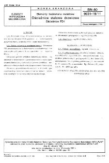 Elementy budowlane metalowe - Ościeżnice stalowe drzwiowe - Ościeżnice FD1 BN-80/9031-18/11