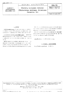 Elementy budowlane metalowe - Ościeżnice stalowe drzwiowe - Ościeżnice FD3 BN-79/9031-18/13