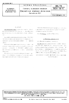 Elementy budowlane metalowe - Ościeżnice stalowe drzwiowe - Ościeżnice FD7 BN-79/9031-18/17