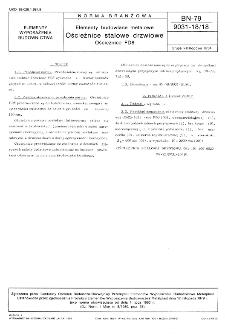 Elementy budowlane metalowe - Ościeżnice stalowe drzwiowe - Ościeżnice FD8 BN-79/9031-18/18
