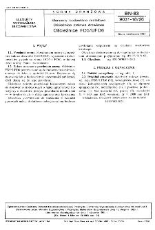 Elementy budowlane metalowe - Ościeżnice stalowe drzwiowe - Ościeżnice FD5/UFD6 BN-83/9031-18/26