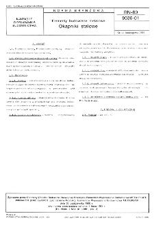 Elementy budowlane metalowe - Okapniki stalowe BN-80/9036-01