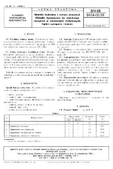 Materiały budowlane z tworzyw sztucznych - Wkładki dystansowe do stabilizacji zbrojenia w elementach żelbetowych - Ogólne wymagania i badania BN-89/6434-02/01