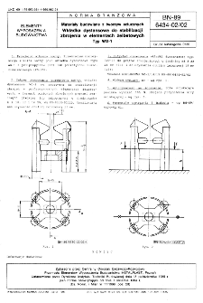 Materiały budowlane z tworzyw sztucznych - Wkładka dystansowa do stabilizacji zbrojenia w elementach żelbetowych - Typ WO-1 BN-89/6434-02/02