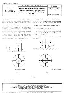 Materiały budowlane z tworzyw sztucznych - Wkładka dystansowa do stabilizacji zbrojenia w elementach żelbetowych - Typ WO-4 BN-89/6434-02/05