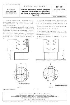 Materiały budowlane z tworzyw sztucznych - Wkładka dystansowa do stabilizacji zbrojenia w elementach żelbetowych - Typ WO-5 BN-89/6434-02/06