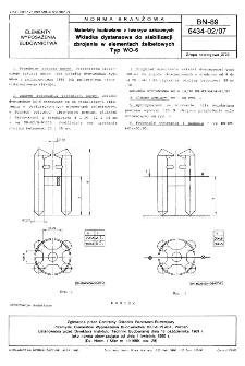 Materiały budowlane z tworzyw sztucznych - Wkładka dystansowa do stabilizacji zbrojenia w elementach żelbetowych - Typ WO-6 BN-89/6434-02/07