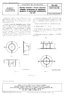 Materiały budowlane z tworzyw sztucznych - Wkładka dystansowa do stabilizacji zbrojenia w elementach żelbetowych - Typ PDN BN-89/6434-02/08