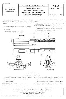 Nawierzchnia kolei normalno- i wąskotorowej - Podkład typu INBK-7D - Wymiary i konstrukcja BN-85/8939-01/02