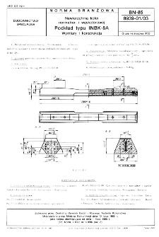 Nawierzchnia kolei normalno- i wąskotorowej - Podkład typu INBK-8A - Wymiary i konstrukcja BN-85/8939-01/03
