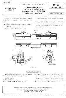 Nawierzchnia kolei normalno- i wąskotorowej - Podkład typu INBK-7M - Wymiary i konstrukcja BN-85/8939-01/04