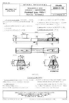 Nawierzchnia kolei normalno- i wąskotorowej - Podkład typu PBS-1 - Wymiary i konstrukcja BN-85/8939-01/02
