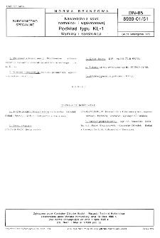 Nawierzchnia kolei normalno- i wąskotorowej - Podkład typu KL-1 - Wymiary i konstrukcja BN-85/8939-01/51