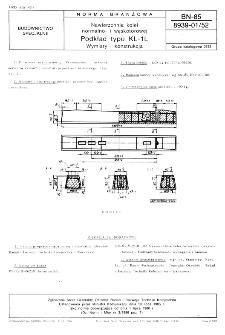 Nawierzchnia kolei normalno- i wąskotorowej - Podkład typu KL-1L - Wymiary i konstrukcja BN-85/8939-01/52