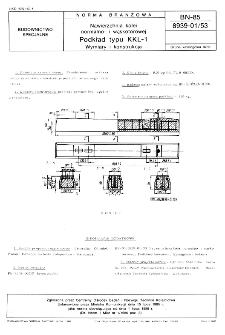 Nawierzchnia kolei normalno- i wąskotorowej - Podkład typu KKL-1 - Wymiary i konstrukcja BN-85/8939-01/53
