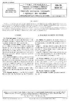 Elementy budowlane z tworzyw sztucznych termoplastycznych - Odchyłki wymiarów liniowych i kątowych dla kształtek otrzymywanych metodą wtrysku BN-79/9031-01