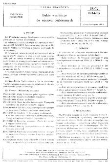 Dukle wiertnicze do wierceń podziemnych BN-72/0414-05