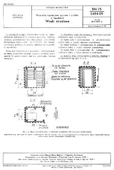 Wyrobiska korytarzowe poziome i pochyłe w kopalniach - Wnęki strzałowe BN-75/0414-09