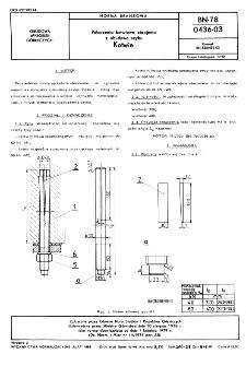 Połączenia kotwiowe zbrojenia z obudową szybu - Kotwie BN-78/0436-03