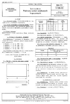 Ścieki kopalniane - Nakrywy rynien ściekowych trapezowych BN-72/1738-02