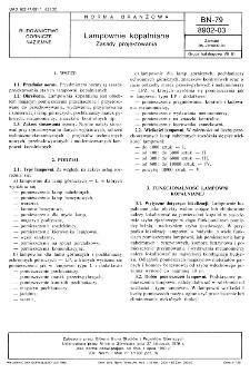 Lampownie kopalniane - Zasady projektowania BN-79/8902-03